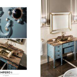 Klassik Badezimmer Möbel aus massivem Holz mit Marmor oder ...